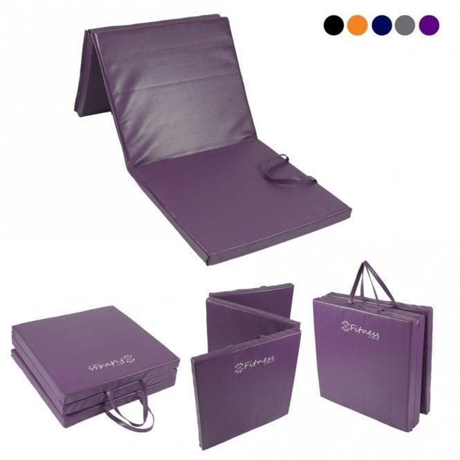Tri-Fold 6' x 2' Mat – 30mm Purple