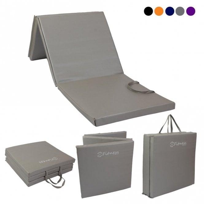 Tri-Fold 6' x 2' Mat – 50mm Grey