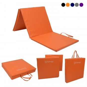 Tri-Fold 6' x 2' Mat – 50mm Orange