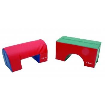 Soft Play Small Squared Bridge/Arch Red/Green