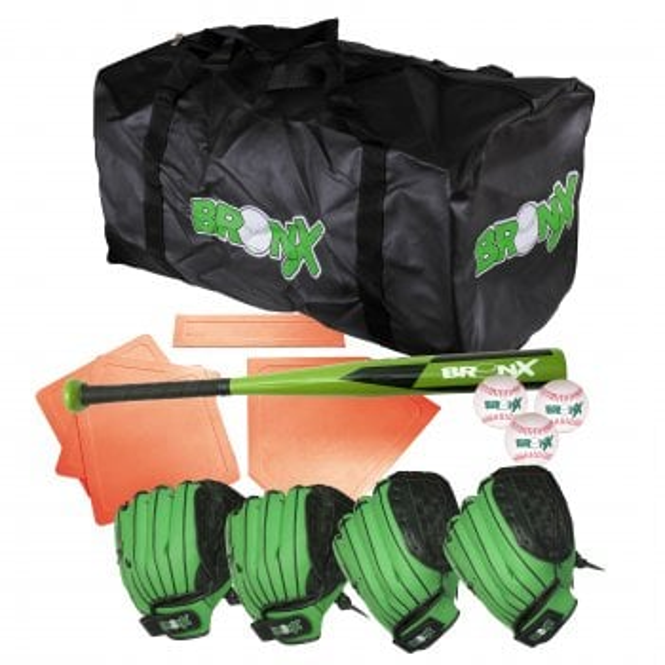 Home Baseball Set - 4 glove