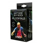 Sure Shot Matthew Syed 3 Star 6pk Table Tennis Balls