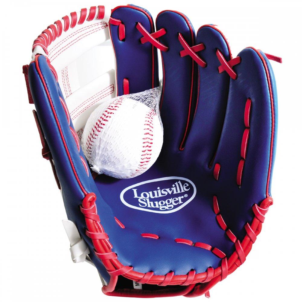 louisville slugger adult baseball glove and ball set