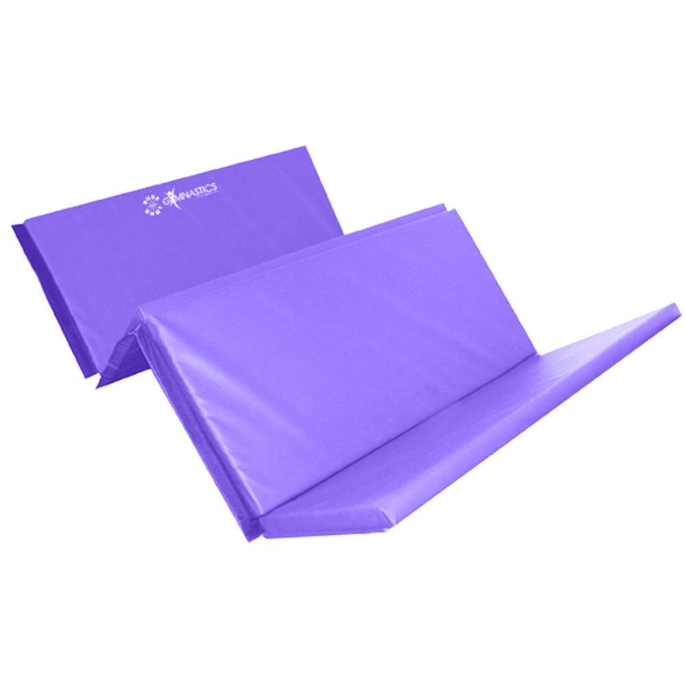 Sure Shot Foldable 4 Fold Mat 60mm Purple Gymnastics