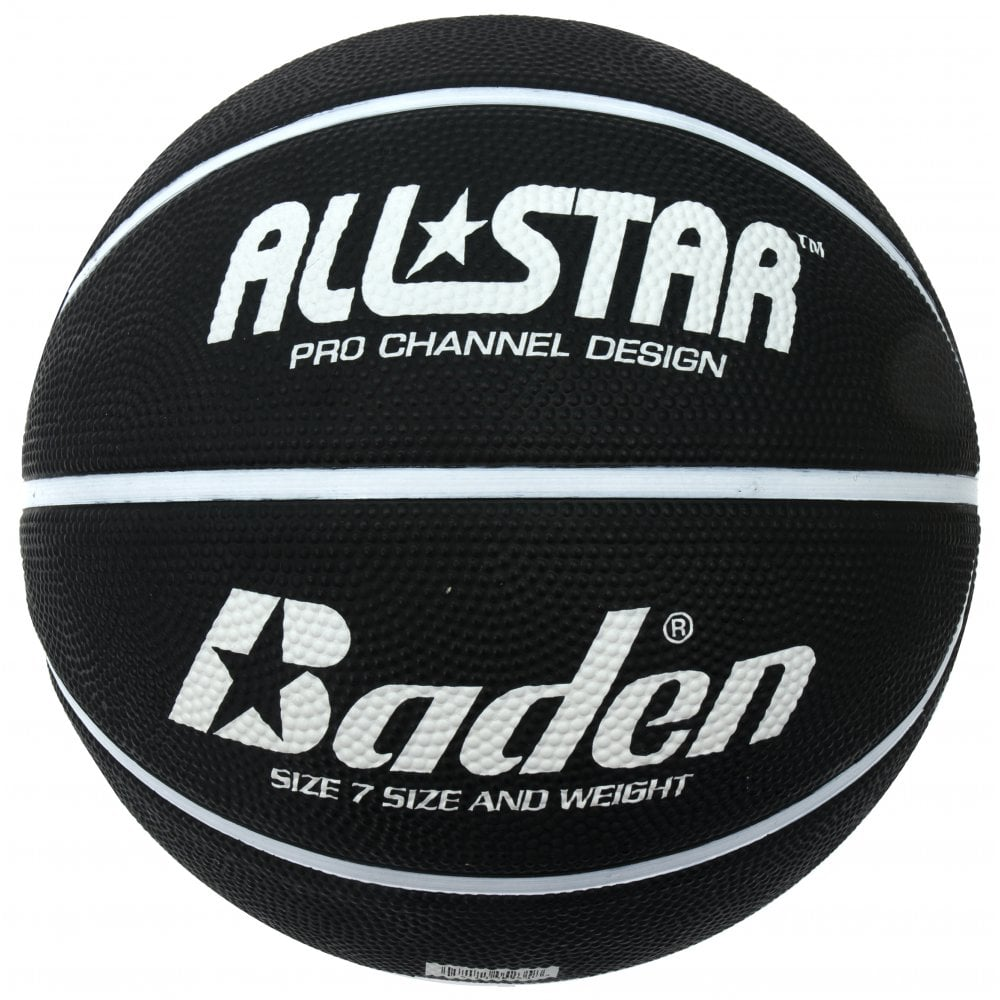 Indoor and Outdoor Ball Baden Junior All Star Deluxe Rubber Basketball Yellow and Blue Size 4